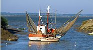 Fishing boat on the Gironde River